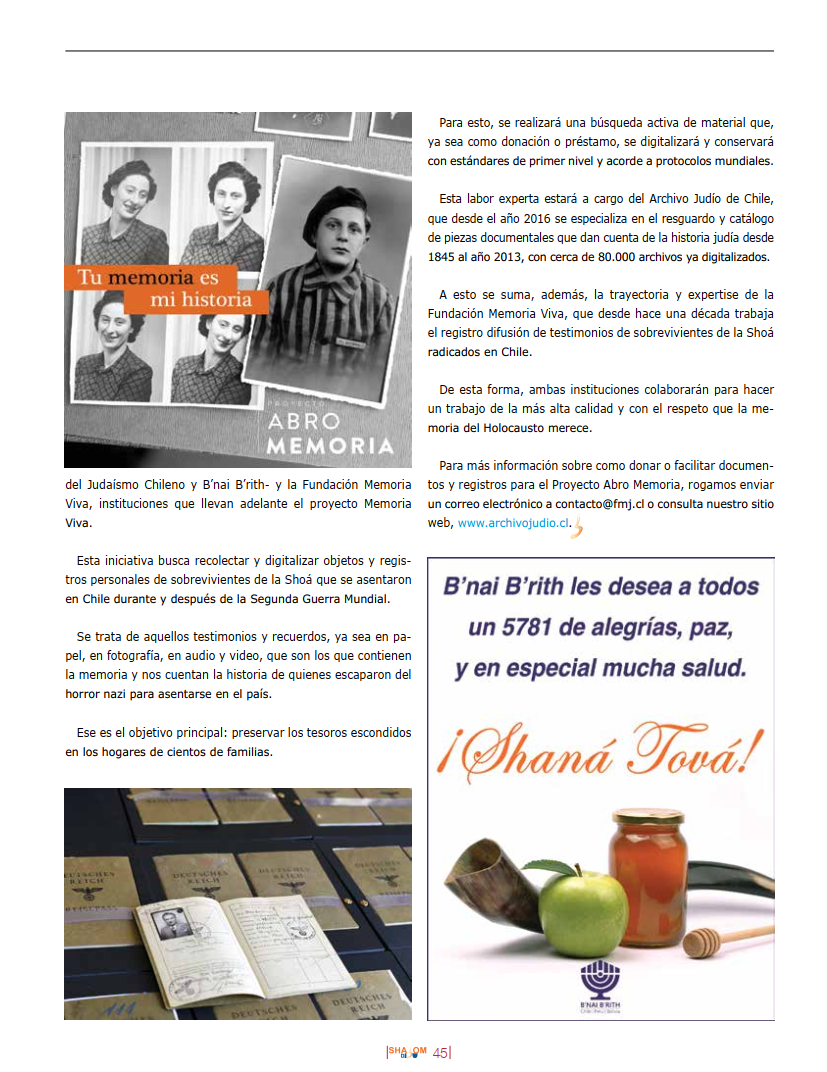 Revista Shalom sept 2020 pag 45