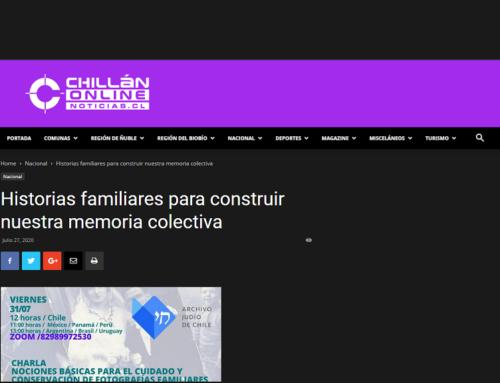 Historias familiares para construir nuestra memoria colectiva – CHILLÁN ONLINE
