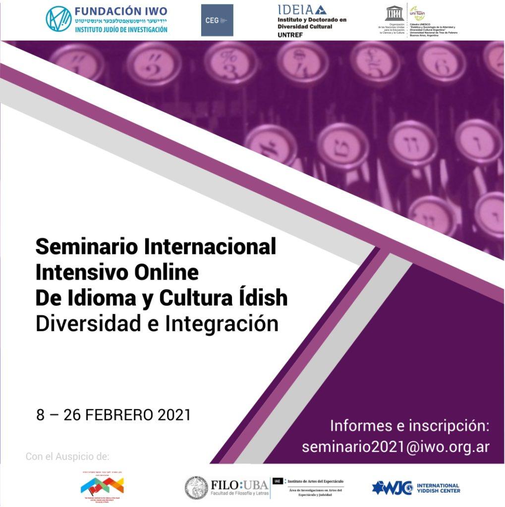 SEMINARIO INTERNACIONAL DE IDISH 2021 ON LINE