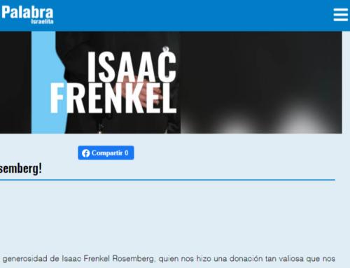 Generosa donación de documentos:¡Gracias Isaac Frenkel Rosemberg!