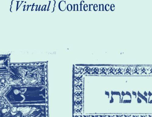 Agradecemos a la Biblioteca Nacional de Israel por la invitación a 4th Judaica Curators {Virtual} Conference
